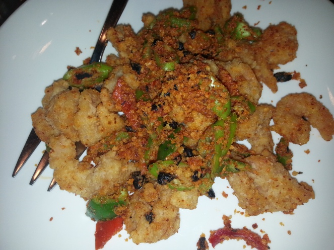 Fried Shrimp : this is the first and probably the last time we'll try this. It's too salty for me. Very salty.