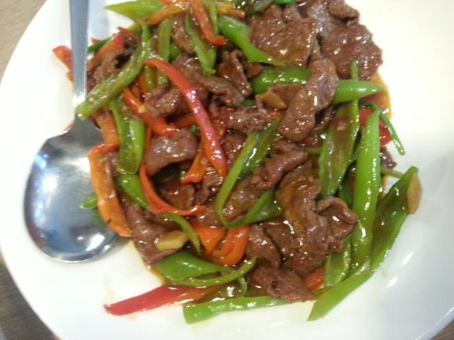 Hunan Beef (tastes even better now)
