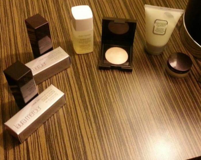 Laura Mercier Highlighter, Makeup Remover and Lipsticks