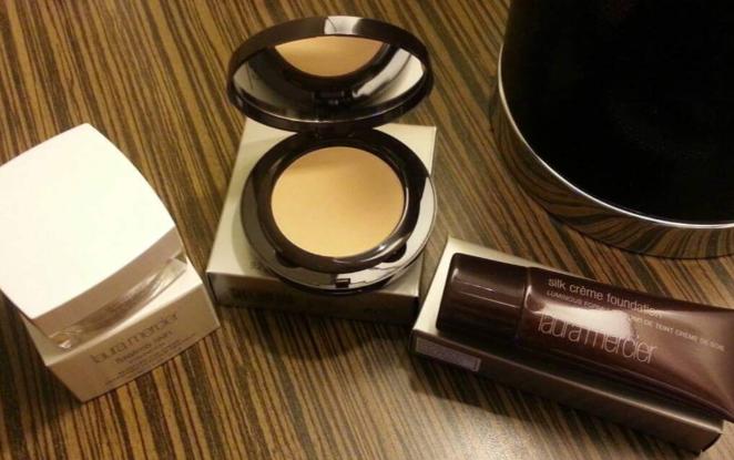 Laura Mercier Silk Creme Foundation, Powder, and Eye Cream